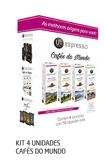 Utam Uno Kit 4 unidades Cafés do Mundo